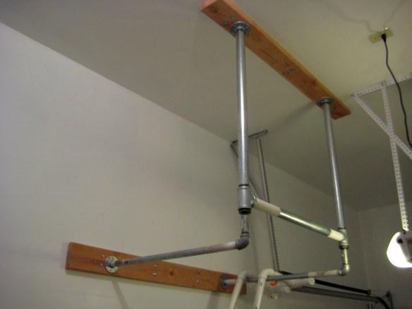 crossfit garage gym diy pull up bar constantly varied