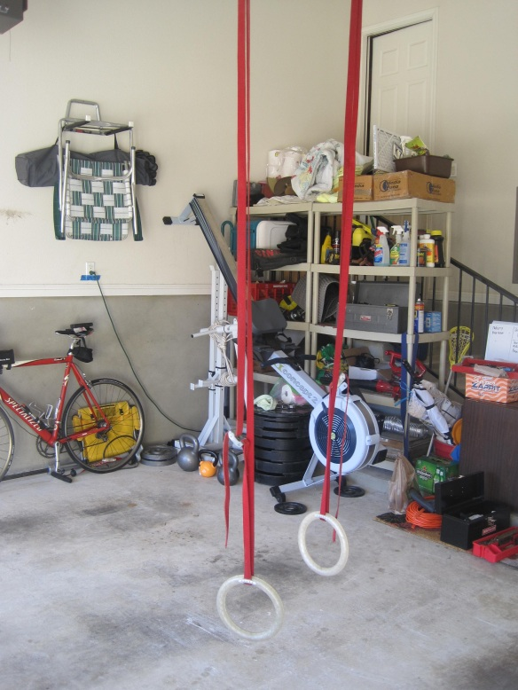 Crossfit home gym how to hang gymnastic rings part ii